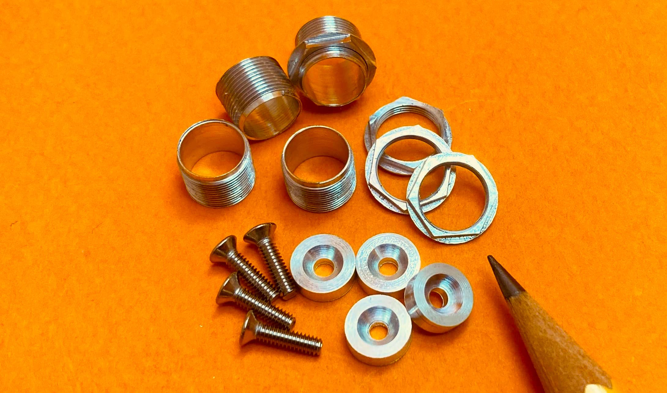Tamiya Ferrari 312T4 1/12 Scale Model Spindle and Wheel Nut Set